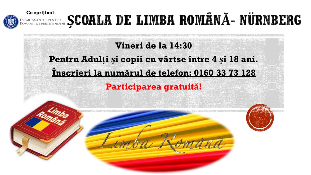 ȘCOALĂ DE LIMBA ROMÂNĂ.  NUREMBERG